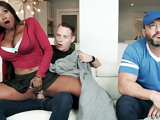 Ebony stepmom fucking their way stepson
