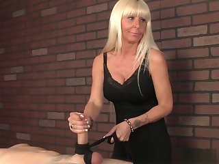 Cougar Masseuse Wanking Load of shit In Cbt Action