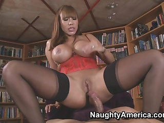 Asian milf Ava Devine dressed up for ebullient fucking. Full clip.