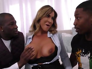 Arousing Realtor Dam Takes On Four Younger B - big titties