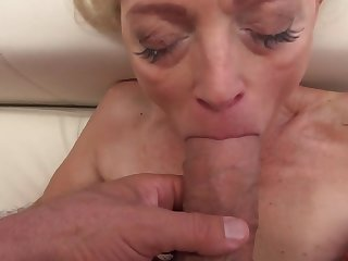 Sweet babe and stunning granny strive fun with big cocks