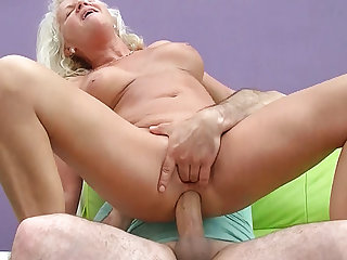sexy 73 years venerable mom first chunky cock anal enjoyment from