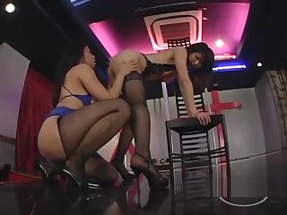 2 Asian Strippers Patting Sucking Nipples On The Stage Everywhere The Nightclub