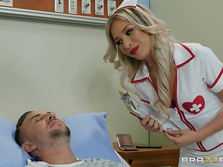 X nurse Carmen Caliente adores thing embrace and a blowjob in an obstacle hospital