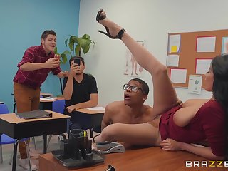 dirty teacher Anissa Kate wants to get fucked by a dude in the lecture-room