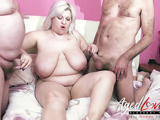 AgedLovE Groupsex Thither Two Matures and One Cocks