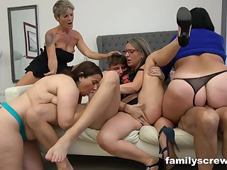 Crazy sex party everywhere chubby old whores