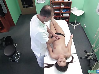 Doctor fucks his kinky patient Anina Silk on the hidden camera