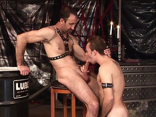 Twink loves to gag with his master's dick vanguard trying anal