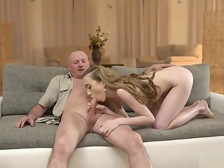 daddy4k. man gets on speaking terms with sons girlfriend plus fucks her