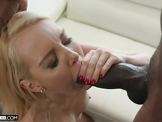 The size of the black cock Aaliyah Love tackles is simply impressive