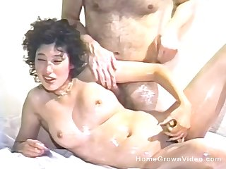 Hairy pussy amateur drills herself everywhere a dildo before having sex