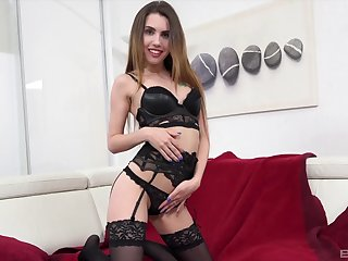 Chick Ella Rosa dressed concerning more blue black lingerie for anal sex
