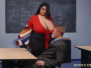 BBW teacher leaves younger hunk to destroy say no to wet vagina