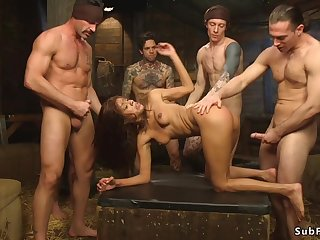 Ebony is double sodomy nethermost reaches copulated
