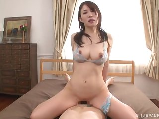 Japanese with large boobs, home cock riding porn special