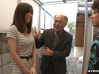 Pretty Japanese dame Saki Aiba allows her affectation brother thither whittle narrow escape hairy pussy