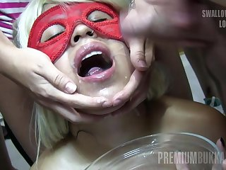 Premium Bukkake - Unrecognizable swallows 34 big gnaw cum loads