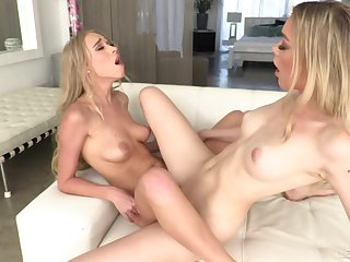 Lesbians law off in scissoring scenes before working toys earn chum around with annoy asses