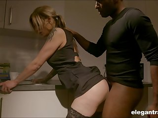 Pale nympho with nice nuisance Klarissa is properly analfucked by dark stud