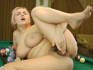 Lena likes to play pool - Compilation - WeAreHairy