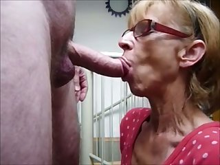 On target dirty frowardness she has and this granny knows how to give a good blowjob