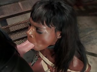 Ebony trainee fucked by chubby dick