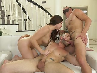 Unforgettable steamy bisexual MMF threesome with with an eye to Keira Croft