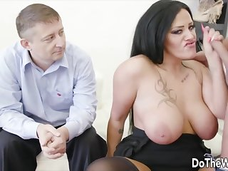 Wives enjoy taking hard dicks in mouth and drag inflate it good in sketch of their husbands
