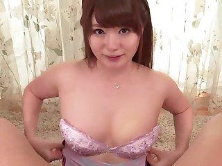 Yui Nishikawa gives head with regard to sloppy modes then fucks
