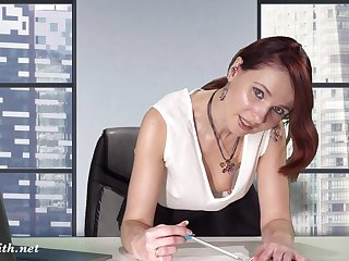 Downblouse convenient work. Boss flashing will not hear of knockers and pussy