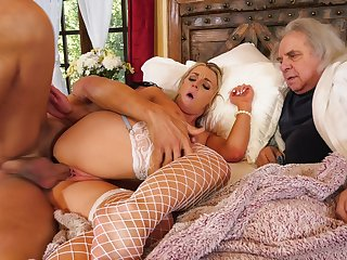 Steamy wife loves posing for her old spouse straight away trying cuckold porn