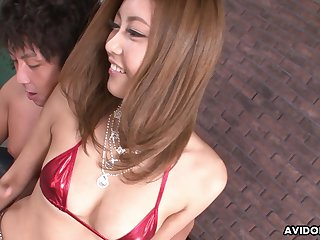 Turned on after fingering low-spirited Julia Shinozaki loves giving for detail head