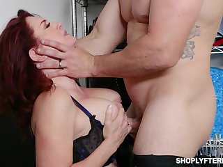 Prexy ginger MILF secretary Andi James is used for some hard casual sexual connection