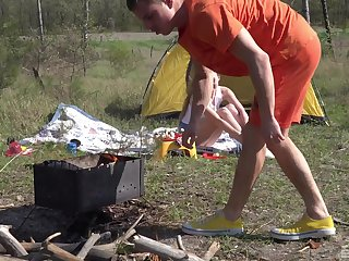 Outdoors screwing during camping on touching stunning amateur Andrea Sixth