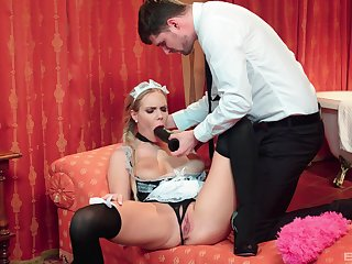 The maid is yon than bewitched to suit will not hear of master's hidden sexual needs