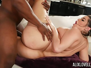 Energized hardcore sex with a black man