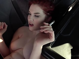 Cute 18 yo Redhead Jules Gets Fucked In Parking Lot By Big Black Cock!