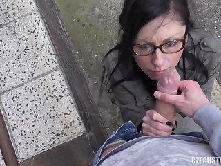 Veronika fucks a stranger in the street