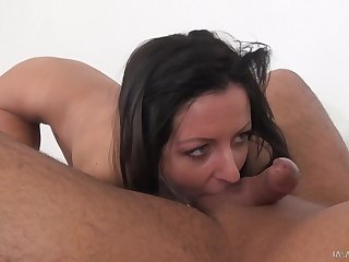 Amateur wife Summer Brooks on her knees getting penetrated