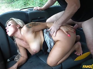 Man fucks wife's big ass on her resembling round the office
