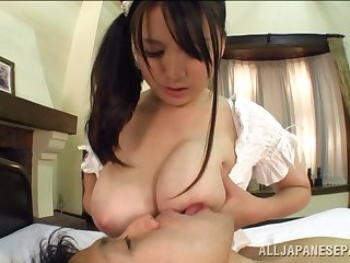 Amateur Asian wife Anna Natsuki knows however wide respect her man