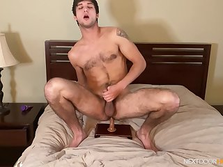 Gay little shaver works his toy in unsurpassed anal scenes on cam