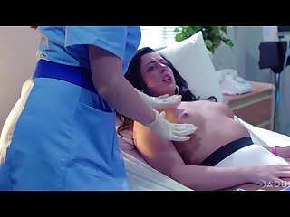 a handful be required of lesbian nurses are licking and finger fucking pussy be required of Whitney Wright