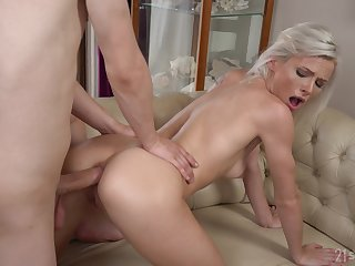 Young blonde gets bore fucked in serious back range XXX play