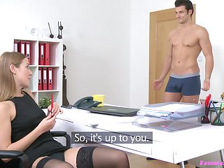 Sex on the couch during naughty job pay attention