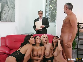 MILFs with insane curves, serious porn on transmitted to couch