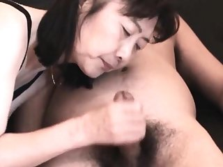 Chie loves sucking cock, 50's matured school cram