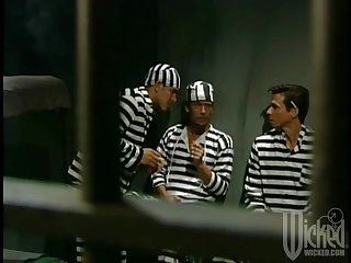 A handful of inmates team up to fuck one busty slut - Chasey Lain
