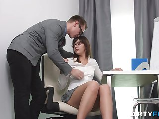 Readying Math sucks and slutty nympho gets nailed doggy hauteur